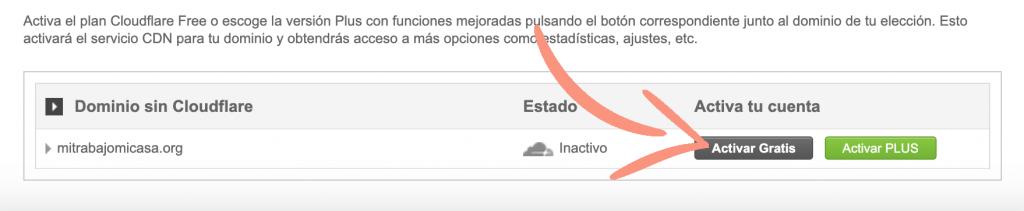 como configurar Cloudflare en Siteground paso 2