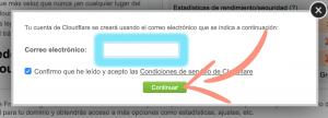 como configurar Cloudflare en Siteground paso 3