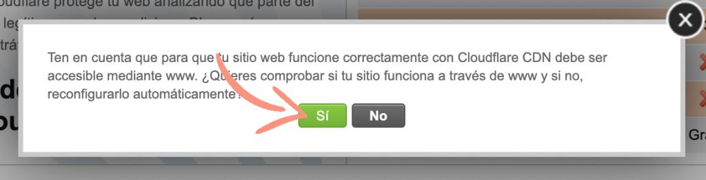 como configurar Cloudflare en Siteground paso 4