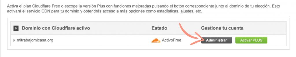 como configurar Cloudflare en Siteground paso 5