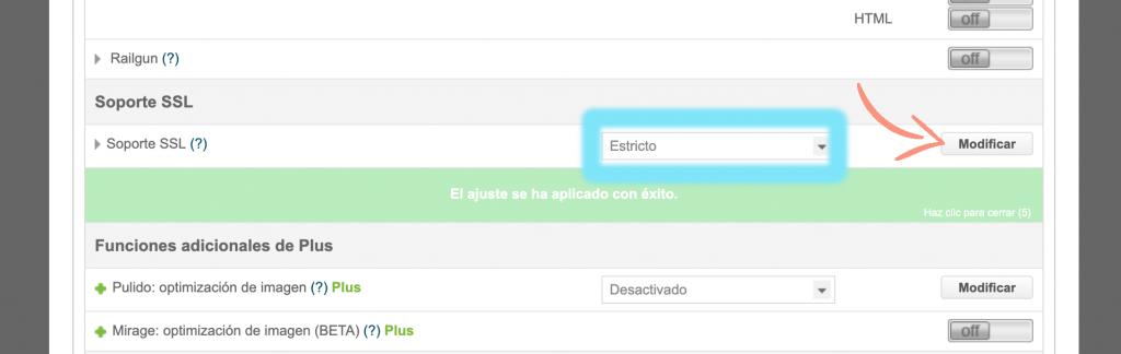 como configurar Cloudflare en Siteground paso 7