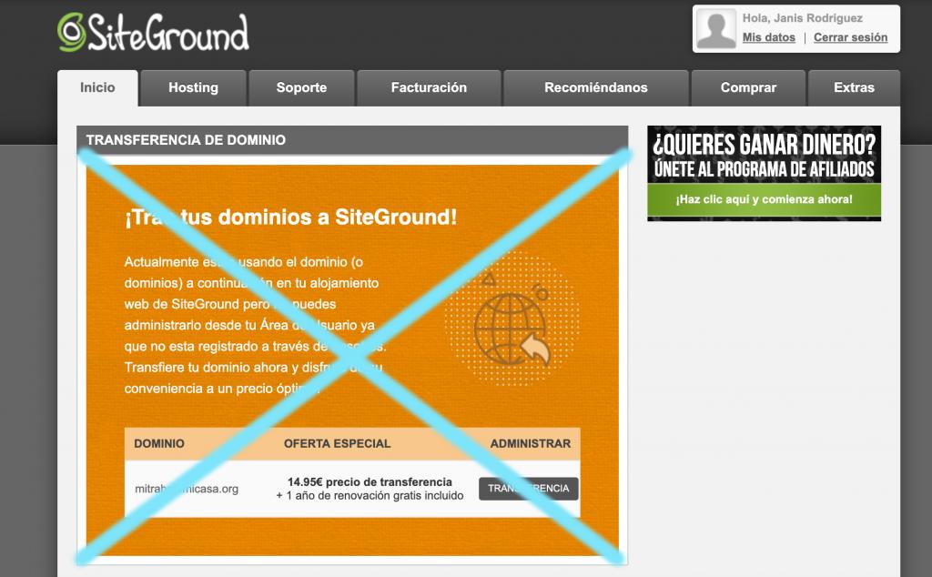 como configurar Siteground