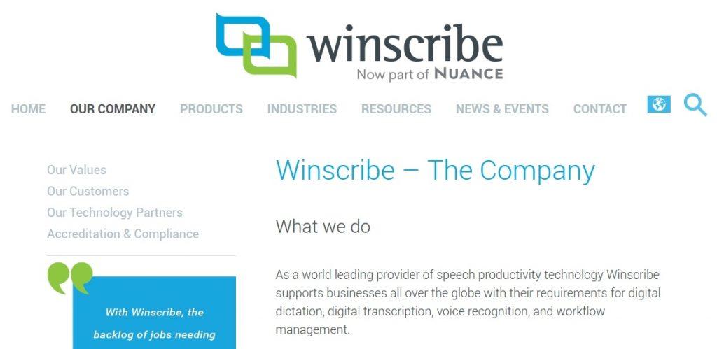 trabajo de transcriptor winscribe