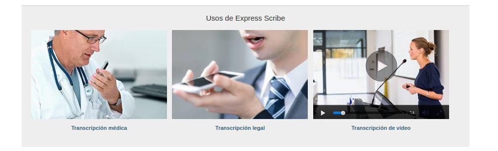 transcriptor de audio express scribe